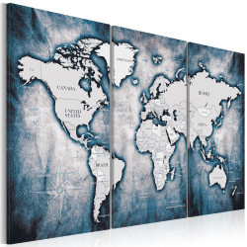 Tablou - World Map: Ink Triptych