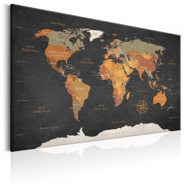 Tablou - World Map: Secrets of the Earth