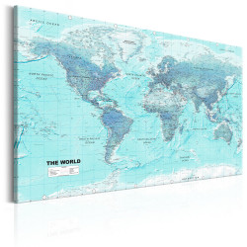 Tablou - World Map: Sky Blue World