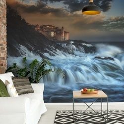 Tellaro Water Fall Photo Wallpaper Mural