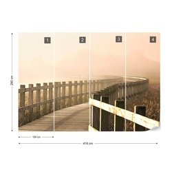 The Path Gets Brighter Photo Wallpaper Mural