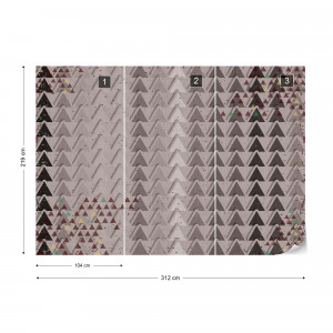 Triangle Pattern Brown Photo Wallpaper Wall Mural