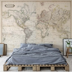 Vintage World Map Sepia