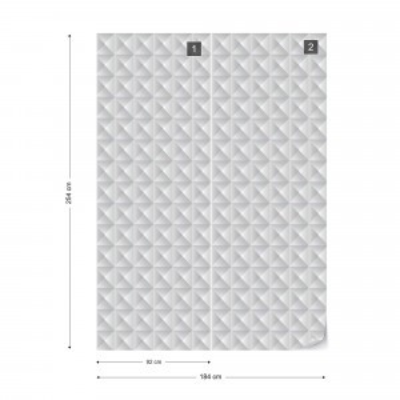 3D Grey Pattern Photo Wallpaper Wall Mural