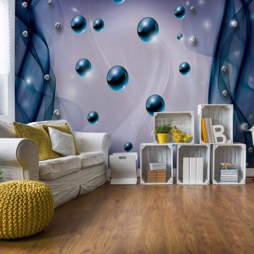 3D Modern Abstract Design Blue Photo Wallpaper Wall Mural