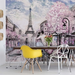 Paris Street Art Painting Photo Wallpaper Wall Mural