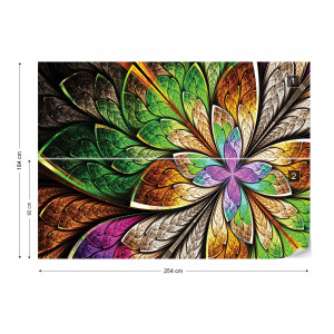 Abstract Colourful Design Photo Wallpaper Wall Mural