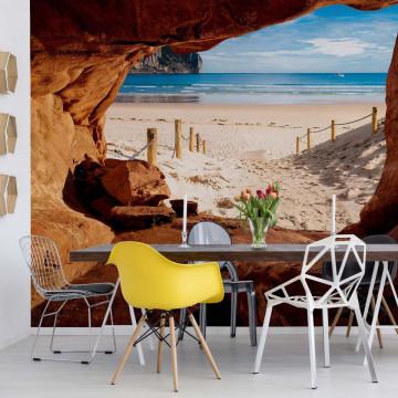 Beach Path Cave Photo Wallpaper Wall Mural