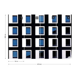 Black And Blue Photo Wallpaper Mural
