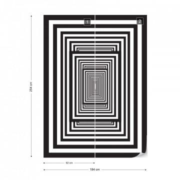 Black And White Geometric Design Photo Wallpaper Wall Mural