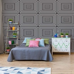 Black And White Geometric Design Photo Wallpaper Wall Mural