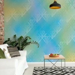 Blue And Yellow Abstract Texture Photo Wallpaper Wall Mural