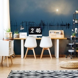 Blue Sun Photo Wallpaper Mural