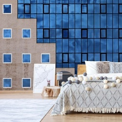 Blue Windows Photo Wallpaper Mural