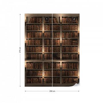Bookshelves Photo Wallpaper Wall Mural