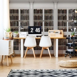 Bookshelves Photo Wallpaper Wall Mural