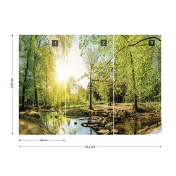 Calm Forest Pool Photo Wallpaper Wall Mural