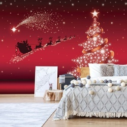 Christmas Santa Claus Photo Wallpaper Wall Mural