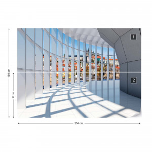 City 3D Modern Architecture View Photo Wallpaper Wall Mural