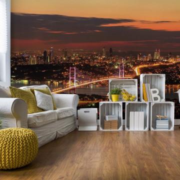 City Skyline Istanbul Bosphorus Photo Wallpaper Wall Mural