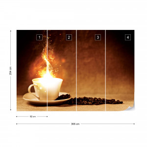 Coffee Cafe Cup Of Magic Photo Wallpaper Wall Mural