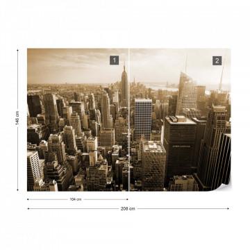Empire State Building – Vedere de Ansamblu, Sepia