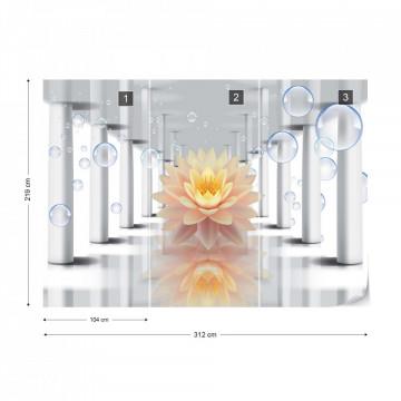 Flower 3D Bubbles Photo Wallpaper Wall Mural