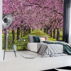 Flowering Trees Photo Wallpaper Wall Mural