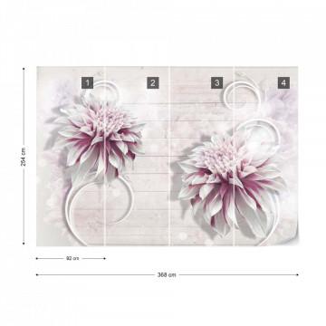 Flowers Modern Design Photo Wallpaper Wall Mural