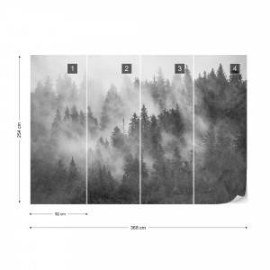 Forest in the Mist Textured Black & White