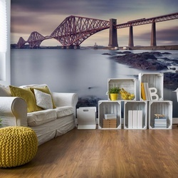 Forth Rail Bridge Photo Wallpaper Mural