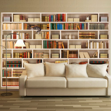 Fototapet autoadeziv - Home library