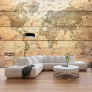 Fototapet autoadeziv - Map on Boards