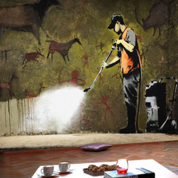 Fototapet - Banksy - Cave Painting