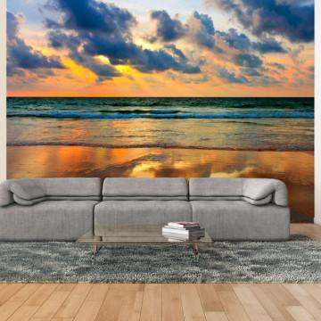Fototapet - Colorful sunset over the sea