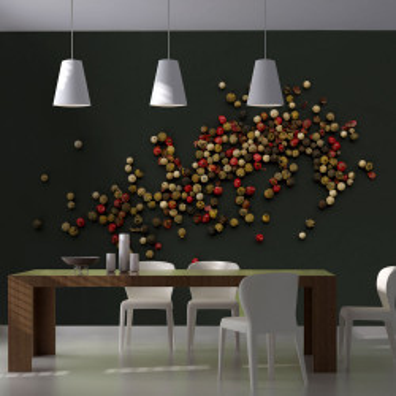 Fototapet - Composition of coloured pepper