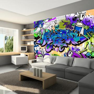 Fototapet - Graffiti: violet theme