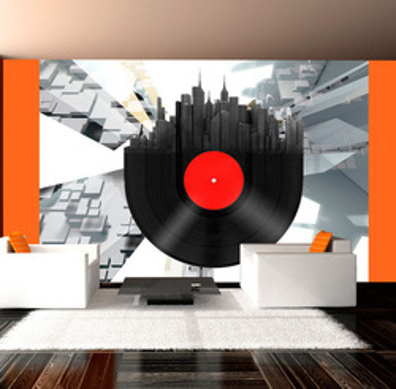 Fototapet - Heavy sounds of the city