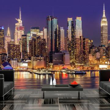 Fototapet - NYC: Night City
