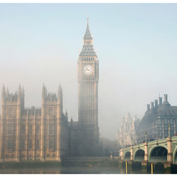 Fototapet - Palace of Westminster in fog, London