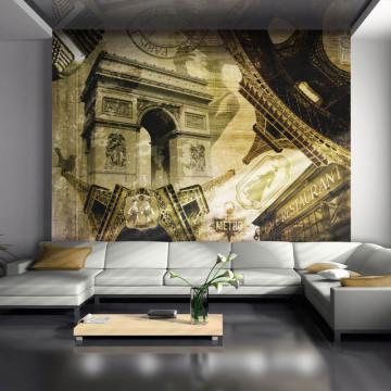 Fototapet - Parisian collage
