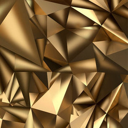 Fototapet pentru ușă - Photo wallpaper - Golden Geometry I