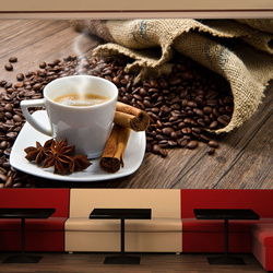 Fototapet - Star anise coffee