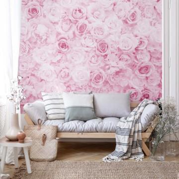 Fototapet - Trandafiri Romantici – Roz
