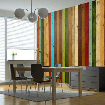 Fototapet - Wooden rainbow