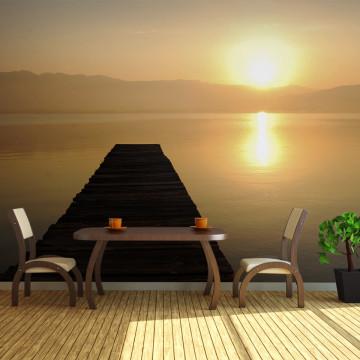 Fototapet XXL - jetty, lake, sunset...
