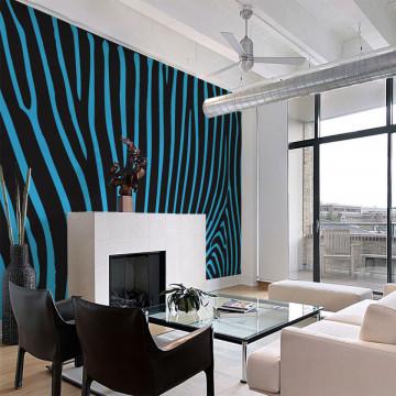 Fototapet - Zebra pattern (turquoise)