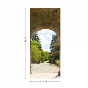 Garden Through Arches Photo Wallpaper Wall Mural