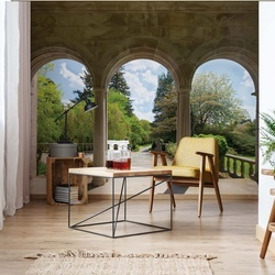 Garden Through Arches Photo Wallpaper Wall Mural