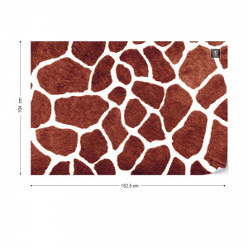 Giraffe Abstract Pattern Photo Wallpaper Wall Mural